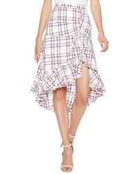 Parker - Kylie Ruffle Linen & Cotton Skirt - Lyst