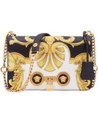 f3049e42cb Versace - Baroque Print Medium Icon Leather Crossbody Bag - Lyst