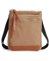 Lodis - Zora Rfid Nylon & Leather Crossbody Bag - Lyst