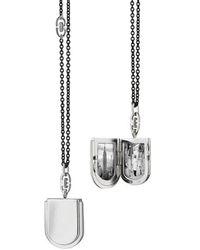 Monica Rich Kosann - Horseshoe Silver Locket Necklace - Lyst