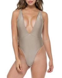 Luli Fama - Deep-v Reversible One-piece Swimsuit - Lyst