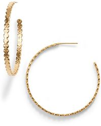 774bb1918 Five And Two Chloe Celestial Hoops in Metallic - Lyst