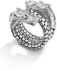 John Hardy - 'legends' Dragon Coil Ring - Lyst