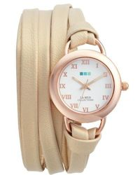La Mer Collections | Saturn Wrap Leather Strap Watch | Lyst