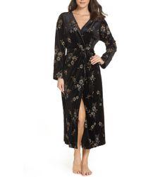 Chelsea28 - Dream Away Embroidered Velvet Robe - Lyst