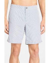 Boto - 'aruba - Stripe' Tailored Fit 8.5 Inch Board Shorts - Lyst