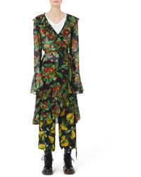 Marc Jacobs - Long-sleeved Wrap Dress - Lyst