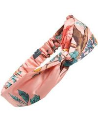 Cara   Floral Forest Print Head Wrap   Lyst