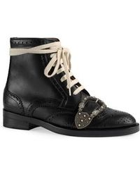 Gucci - Queercore Combat Boot - Lyst
