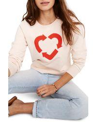 3e05f751bc7 Madewell - X Charity: Water Heart Recycling Sweatshirt - Lyst