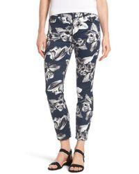 Jen7 - Print Crop Skinny Jeans - Lyst