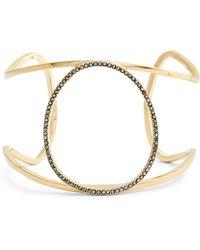 Sole Society - Large Goldtone & Hematite Cuff Bracelet - Lyst