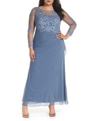 Decode 1.8 - Embroidered Illusion Lace Gown - Lyst