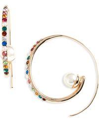BaubleBar - Delisa Imitation Pearl Hoop Earrings - Lyst