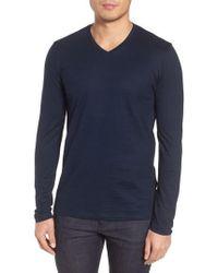 BOSS - Tyson Long Sleeve V-neck T-shirt - Lyst
