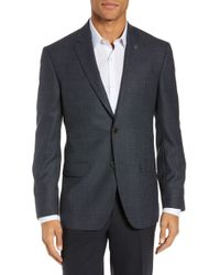 9c1601e1be39 Lyst - Ted Baker  jay  Trim Fit Check Sport Coat in Purple for Men