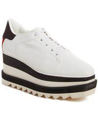 0e50d1255e9a Stella McCartney - Ladies White Stripe Sneak Elyse 75 Platform Sneakers