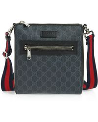 5253be361dc782 Gucci Travel Gg Canvas Diaper Bag W/ Changing Pad in Black for Men ...