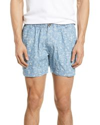 52c91902dd Naked & Famous Slim Short Big Tropical in Blue for Men - Lyst