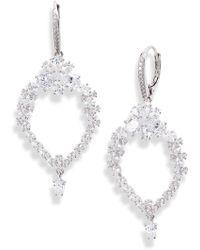 Nadri Tulle Doublet & Cubic Zirconia Drop Earrings