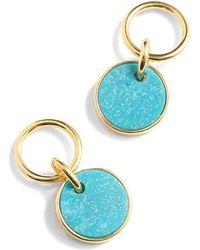 J.Crew - Demi Fine 14k Gold Plated Turquoise Drop Earrings - Lyst