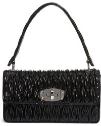 a650ade5b11ae9 Miu Miu - Vernice Matelassé Quilted Leather Shoulder Bag - - Lyst