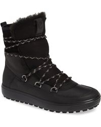 Ecco - Soft 7 Tred Waterproof Genuine Shearling Lined Bootie - Lyst
