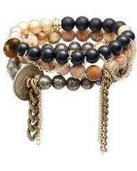 THE LACE PROJECT | Set Of 3 Bead Stretch Bracelets | Lyst