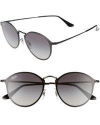 Ray-Ban - Blaze 59mm Round Sunglasses - Lyst