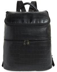 Longchamp - Large Leather Backpack - - Lyst