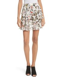 Jason Wu - Painterly Floral Print Skirt - Lyst