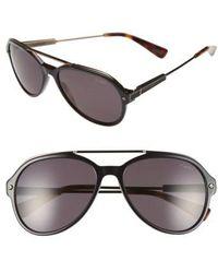 Lanvin - 57mm Aviator Sunglasses - - Lyst