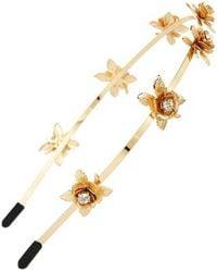 Cara - Crystal Flower Headband - Lyst