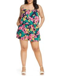 d71b4e440382 Gibson - X Hot Summer Nights Two Peas Layered Camisole Romper - Lyst