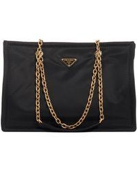 e72ea2f78 Prada Saffiano Leather Mini Sound Crossbody Bag in Metallic - Lyst
