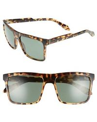 Quay - Let It Run 57mm Polarized Sunglasses - Tort / Green Lens - Lyst
