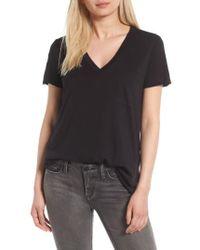Lush - Raw Edge Side Slit T-shirt - Lyst