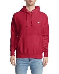 6477dfe4509b Lyst - Champion Reverse Weave Pullover Hoodie in Red for Men