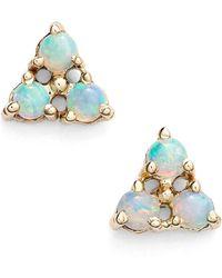 Wwake - Triangle Opal Earrings - Lyst