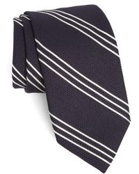 Strong Suit - Grenadine Stripe Wool & Silk Tie - Lyst