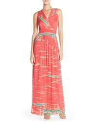 Fraiche By J - Tie Dye Ombre Jersey Maxi Dress - Lyst