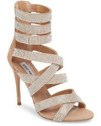 Steve Madden - Malika Crystal Embellished Sandal - Lyst