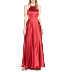 Blondie Nites - Back Tie Charmeuse Evening Dress - Lyst