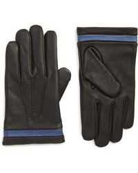 Ted Baker - Tipped Leather Touchscreen Gloves - Lyst