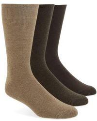 Calvin Klein   3-pack Cotton Blend Socks, Beige   Lyst