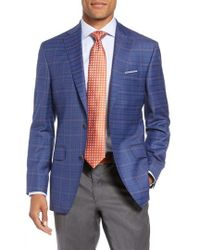 David Donahue - Connor Classic Fit Plaid Wool Sport Coat - Lyst