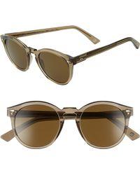 Ahlem - St. Germain 49mm Round Sunglasses - Champagne Light - Lyst