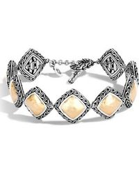 John Hardy - Classic Chain Heritage Quadrangle Bracelet - Lyst