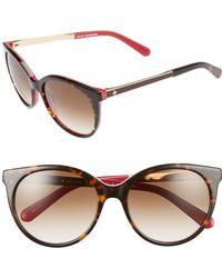 Kate Spade - 'amayas' 53mm Cat Eye Sunglasses - Havana/ Pink - Lyst