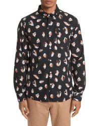 Saturdays NYC - Crosby Spots Woven Shirt - Lyst
